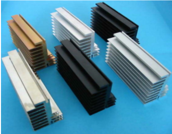 The anodization of a heat sink